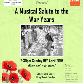 A Musical Salute to the War Years - Poster